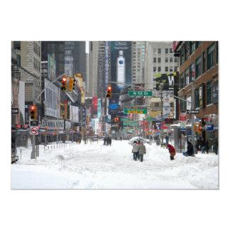 Winter Snow Storm New York City 12/26/10 5x7 Paper Invitation Card