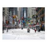Winter Snow Storm New York City 12/26/10 Postcard