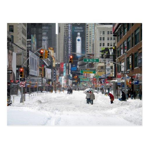 Winter Snow Storm New York City 12/26/10 Post Card