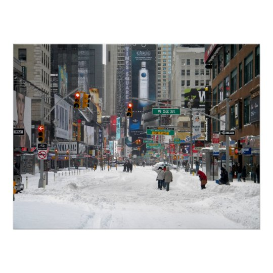 Winter Snow Storm New York City 12/26/10 Poster