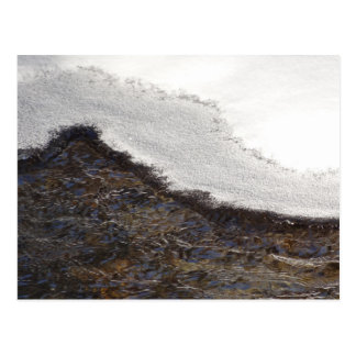 Winter Snow Stream Stripes Abstract Photography Postcard