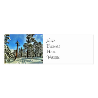 Winter Snow Trails in the Woods Trees Forest Gifts Double-Sided Mini Business Cards (Pack Of 20)