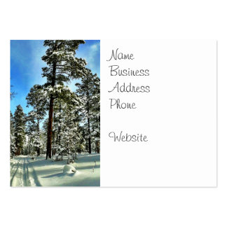Winter Snow Trails in the Woods Trees Forest Gifts Large Business Cards (Pack Of 100)