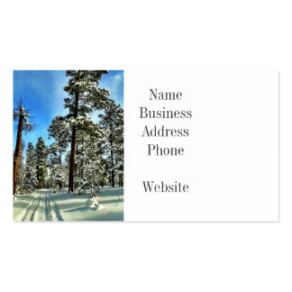 Winter Snow Trails in the Woods Trees Forest Gifts Double-Sided Standard Business Cards (Pack Of 100)