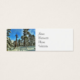 Winter Snow Trails in the Woods Trees Forest Gifts Mini Business Card