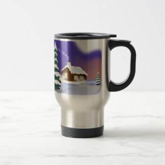 Winter snow travel mug