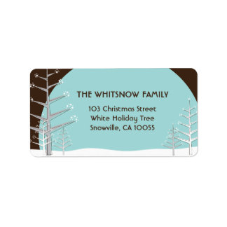 Winter Snow Trees Holiday Address Labels