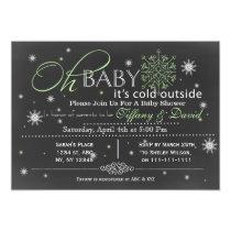 Winter Snow unisex Couple's Baby shower Invitation