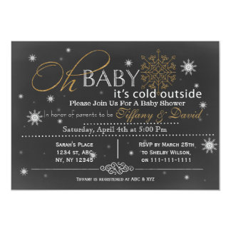 Winter Snow unisex Couple's Baby shower Invitation