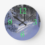 Winter Snow Wall Clocks