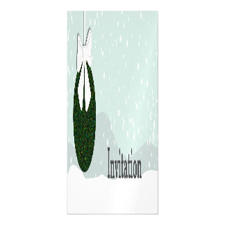 Winter snow with Christmas bulb Magnetic Card