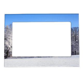 Winter Snow Wonderland Magnetic Photo Frame