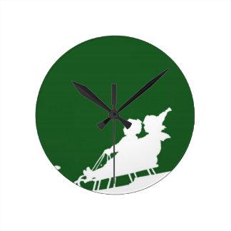 Winter Snow Woodblock Wall Clocks
