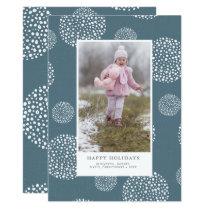 Winter Snowball Holiday Photo Card