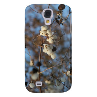 Winter snowberry flower with snowflakes samsung galaxy s4 cases