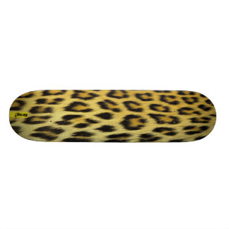 Winter Snowboarders leopard pattern Mountain Slope Skateboard