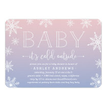 Winter Snowfall Baby Shower Invitation | Blush