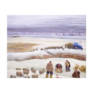 Winter Snowfall Canvas Print