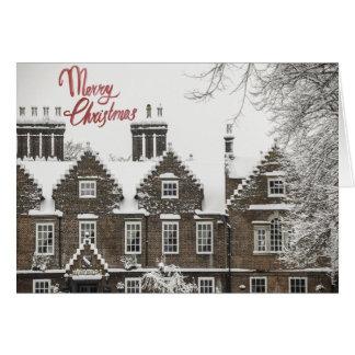 Winter snowfall Christmas card