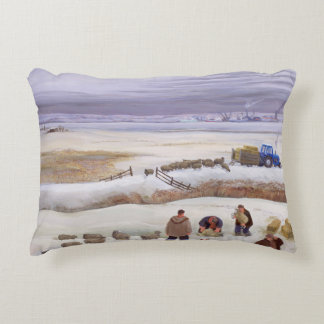 Winter Snowfall Decorative Pillow