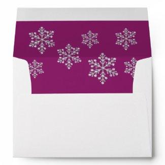 Winter Snowflake 5X7 Envelope envelope