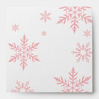 Winter Snowflake Baby Shower Envelope