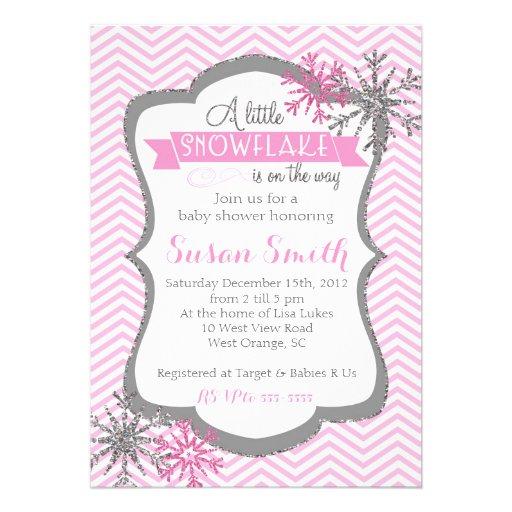 winter snowflake baby shower invitation zazzle