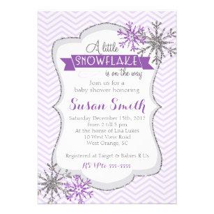 Snowflake baby shower invitations announcements zazzle winter snowflake baby shower invitation card filmwisefo