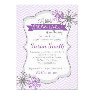Winter Snowflake Baby Shower Invitation Card