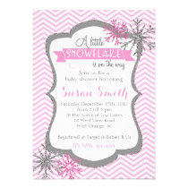 Winter Snowflake Baby Shower invitation Card