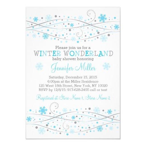 winter snowflake baby shower invitations zazzle