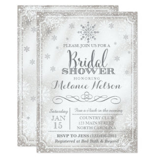 Winter Snowflake Bridal Shower Invitation