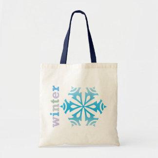 Winter Snowflake Budget Tote Bag