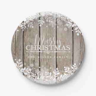 Winter Snowflake, Christmas Paper Plate