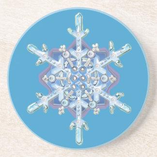 winter snowflake beverage coasters