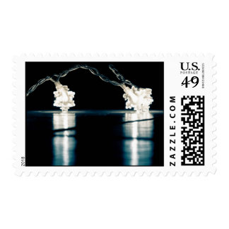 Winter snowflake crystal ice reflection postage