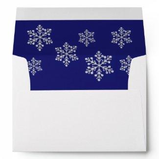 Winter Snowflake Envelope envelope