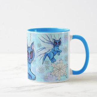 Winter Snowflake Fairy Cat Snow Fantasy Mug