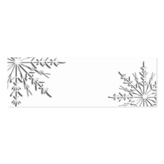 Winter Snowflake Gift Tags Mini Business Card