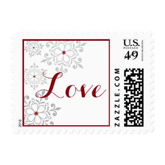 Winter Snowflake Holiday Love Postage