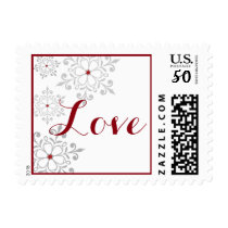 Winter Snowflake Holiday Love Postage