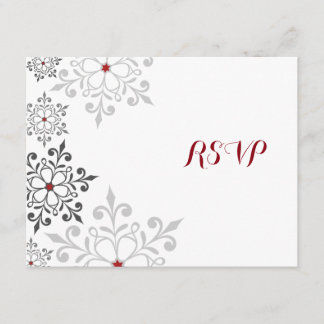Winter Snowflake Holiday RSVP Card
