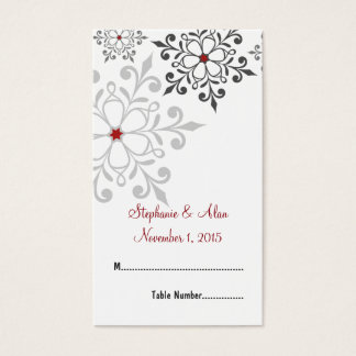 Winter Snowflake Holiday Wedding Place Cards