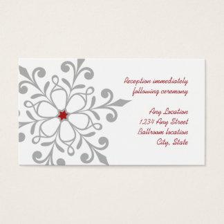 Winter Snowflake Holiday Wedding Reception Card