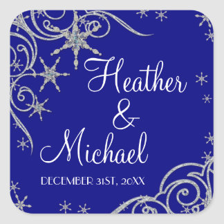 Winter Snowflake Jewels n Bling Swirl Wedding Seal