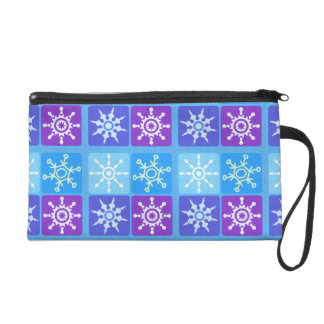 WInter Snowflake Kind Of Day Wristlet Purse