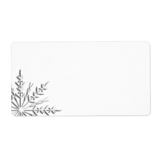 Winter Snowflake Label