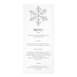 Winter Snowflake Menu 2 Custom Announcements