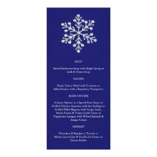 Winter Snowflake Menu (blue)