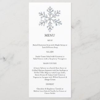 Winter Snowflake Menu (white)